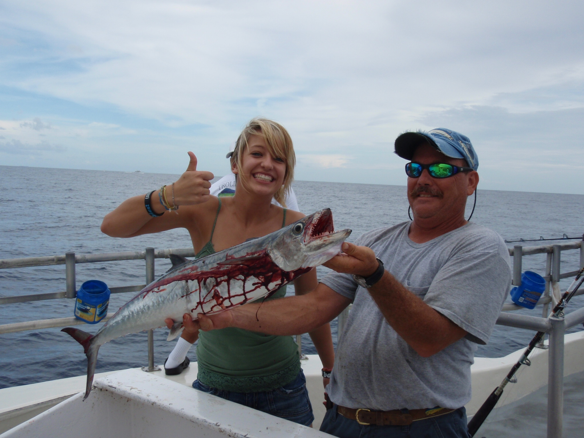lady k allows for great days of fishing bar jack fishing