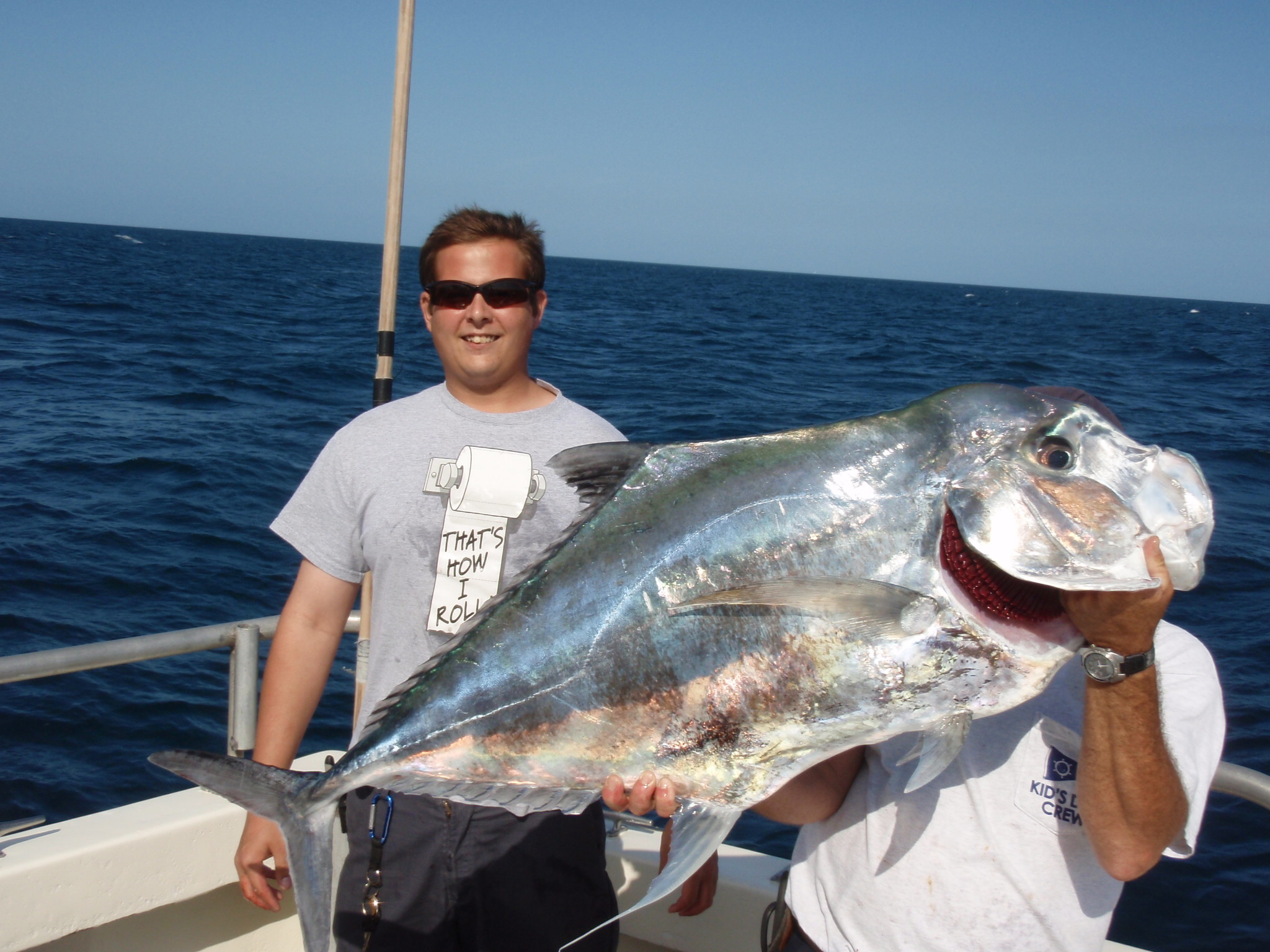 African pompano bar jack fishing and the lady k deep sea for Picture of pompano fish