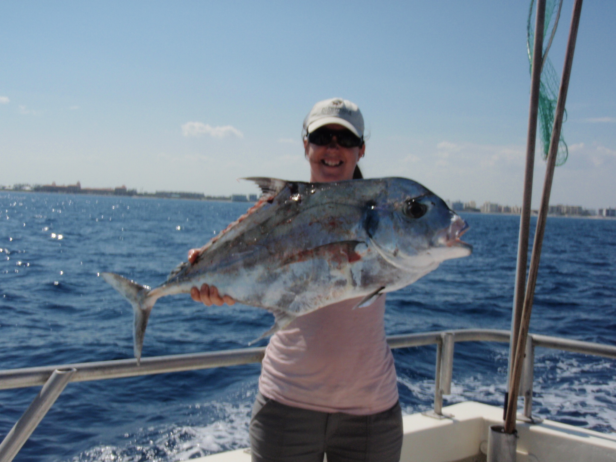 African pompano arrive in april bar jack fishing and the for Deep sea fishing west palm beach
