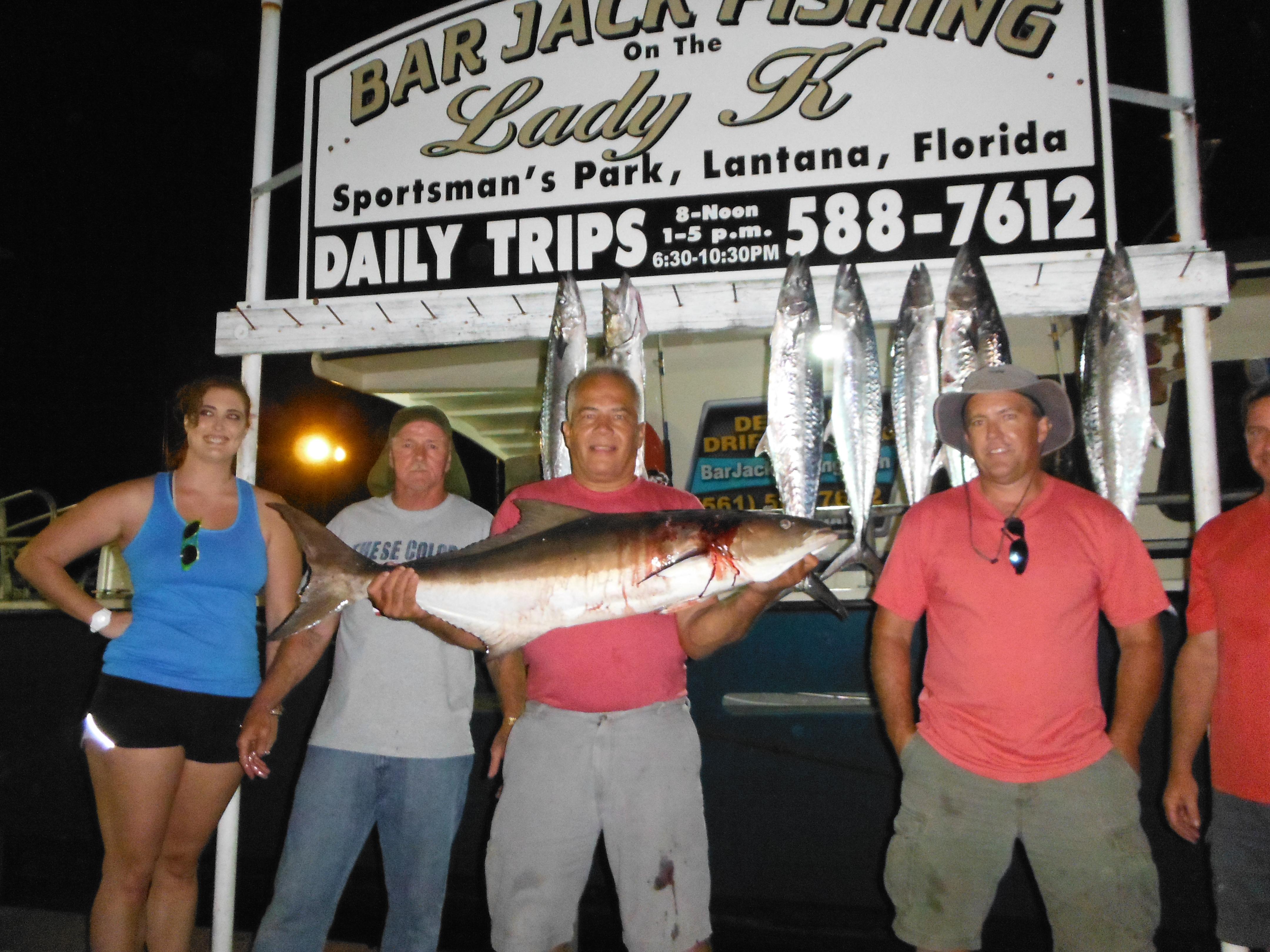 Delray beach drift fishing bar jack fishing and the 70 for Delray beach fishing charters