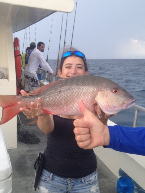 Mutton snapper on the lady k bar jack fishing and the 70 for Bar jack fishing