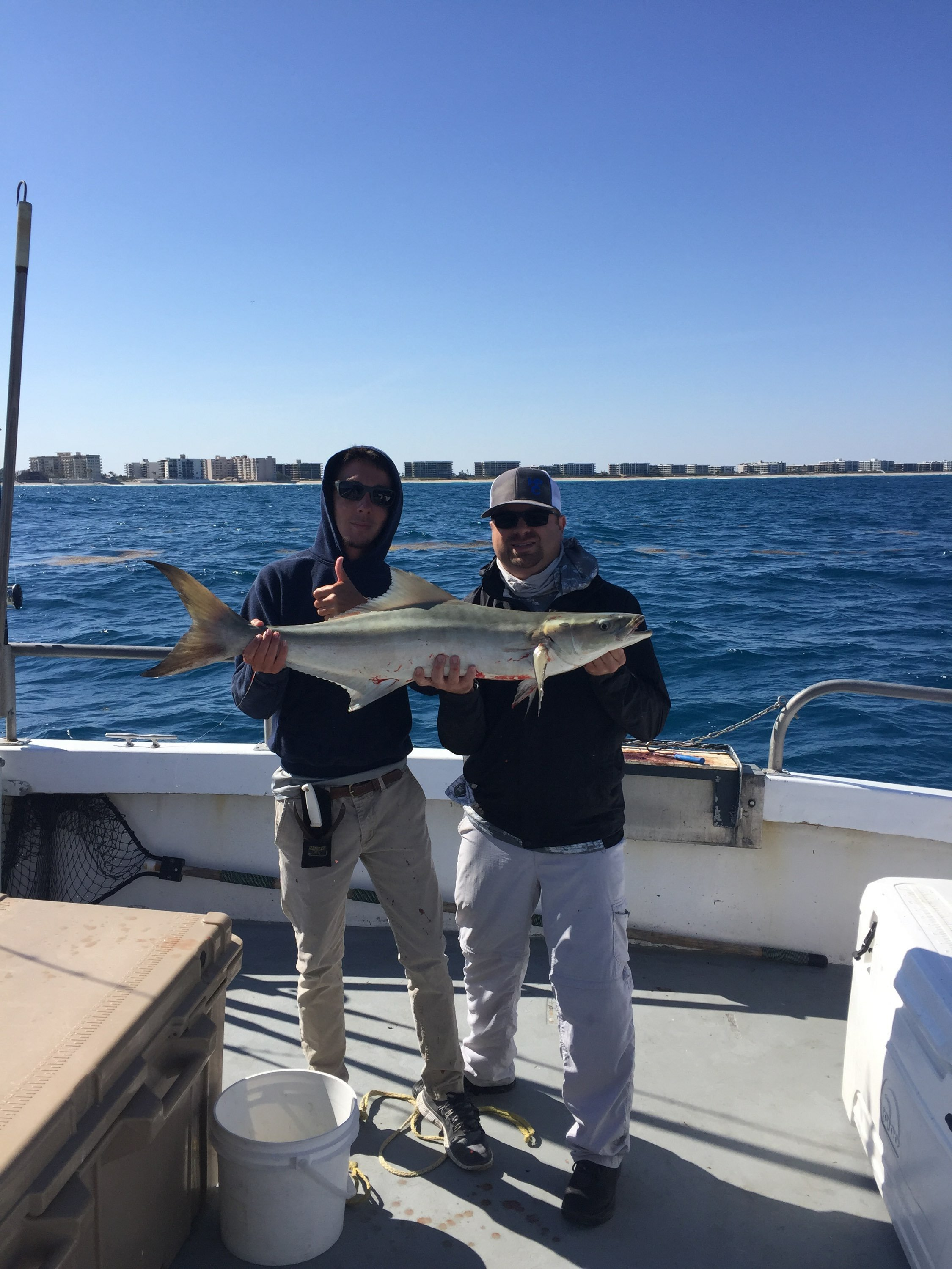 Cold front cobia bar jack fishing and the lady k deep for Deep sea fishing west palm beach